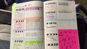Series pagina in mijn bullet journal