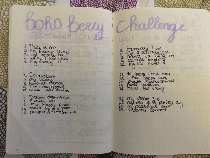 Boho Berry Challenge