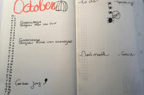 Maandelijks overzicht Oktober